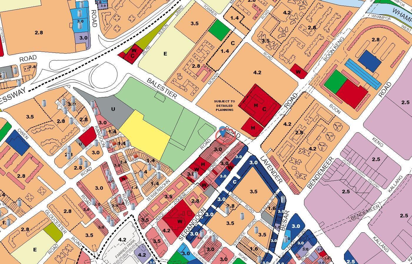 1953 Condo URA Master Plan Map