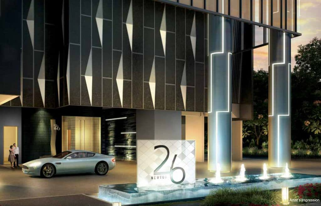 26 Newton Condo Facilities Grand Entrance
