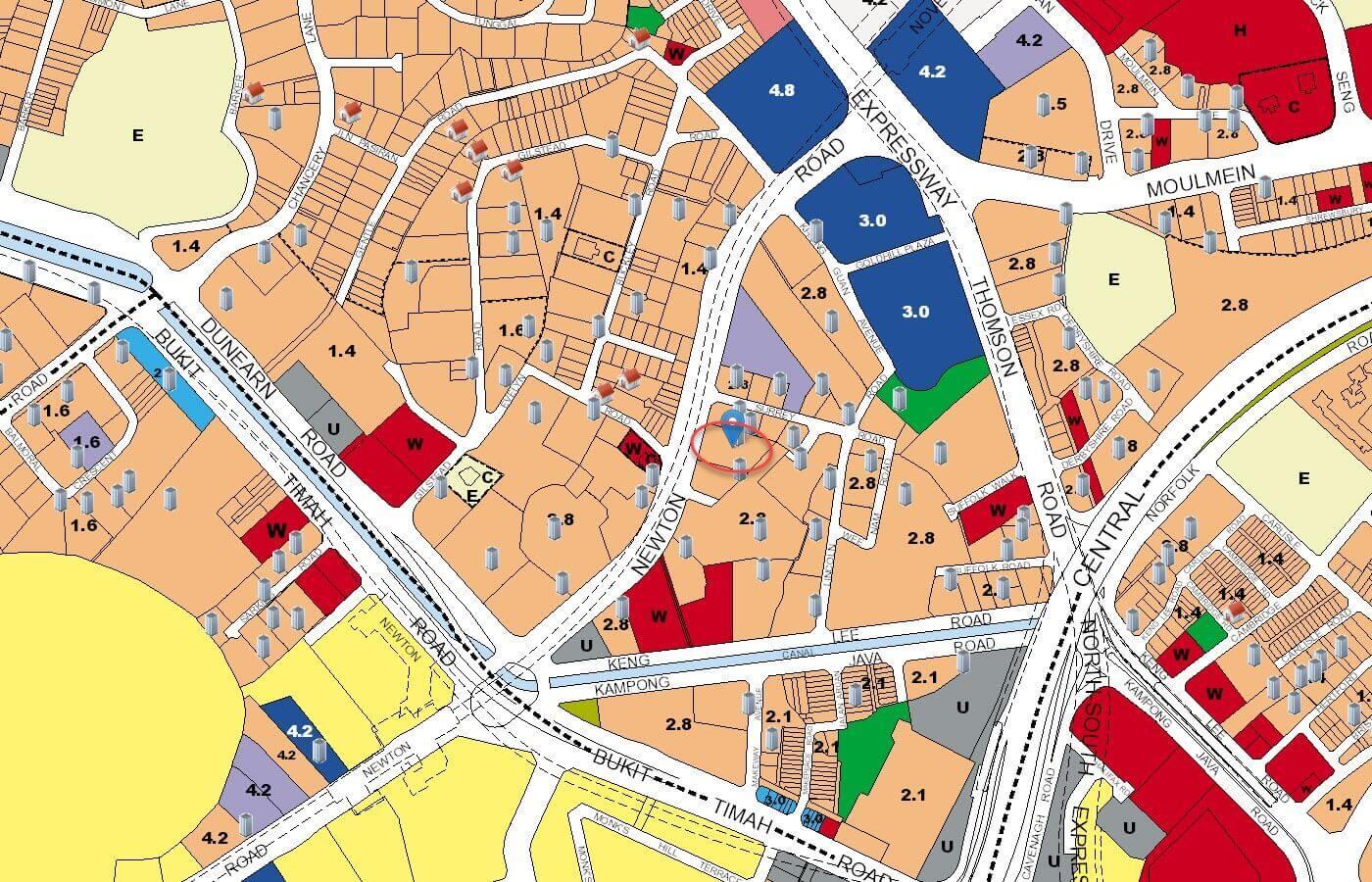 26 Newton Condo URA Master Plan Map