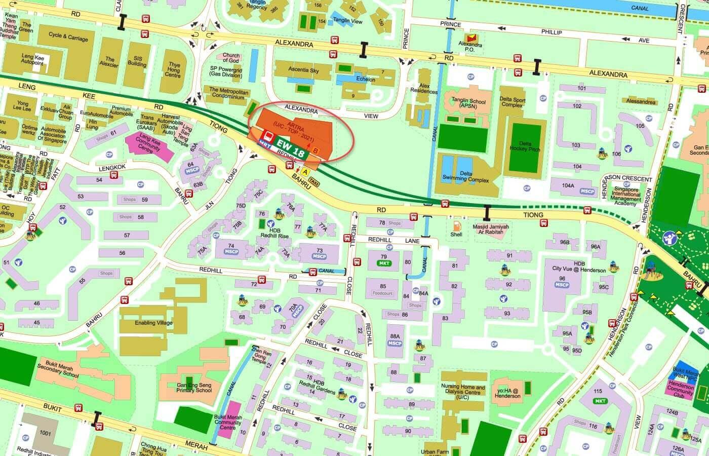 ARTRA Condo Street Directory Map