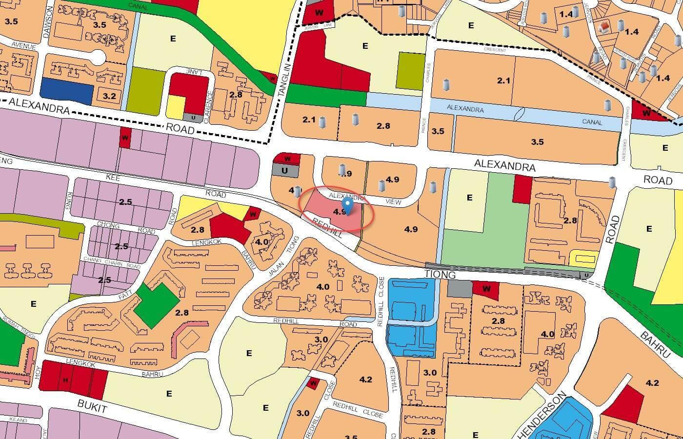 ARTRA Condo URA Master Plan Map
