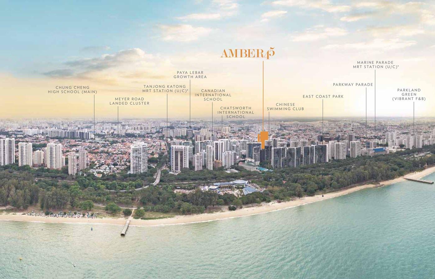Amber 45 Condo Location Nearby Amenities