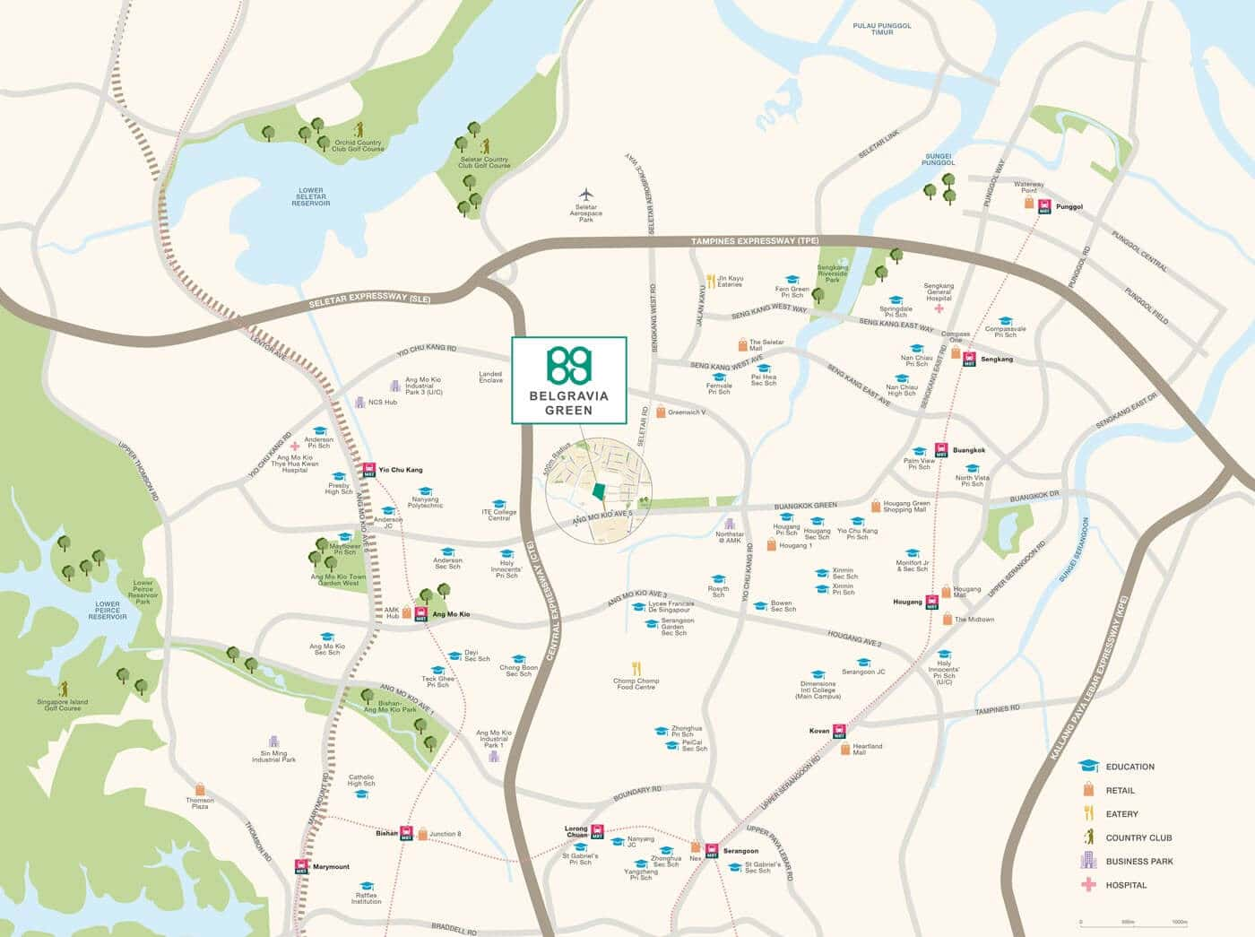 Belgravia Green Cluster House Location Map