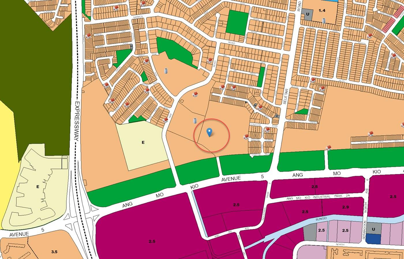 Belgravia Green Landed URA Master Plan Map