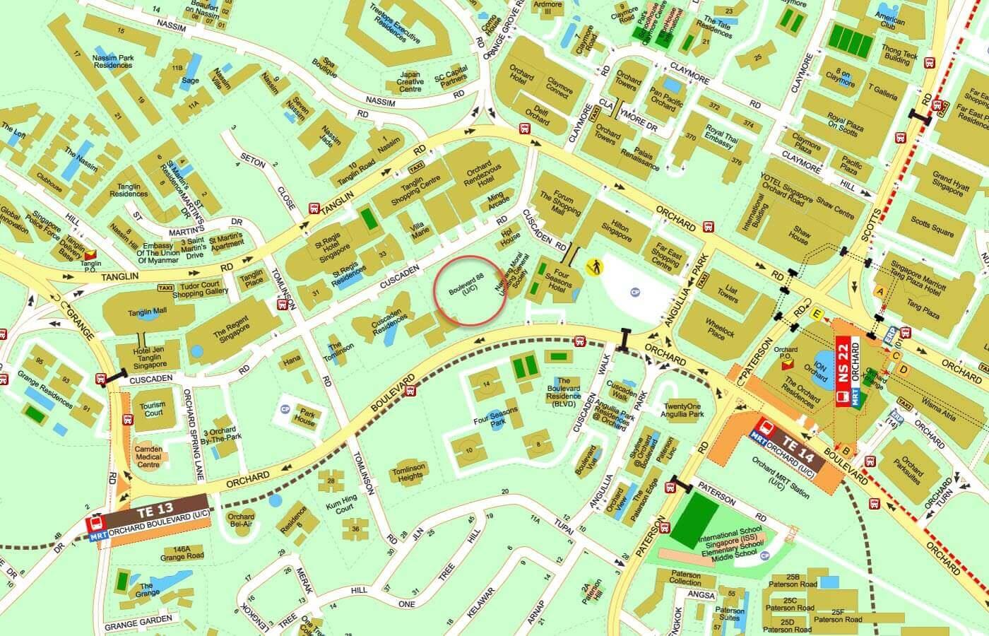 Boulevard 88 Condo Street Directory Map