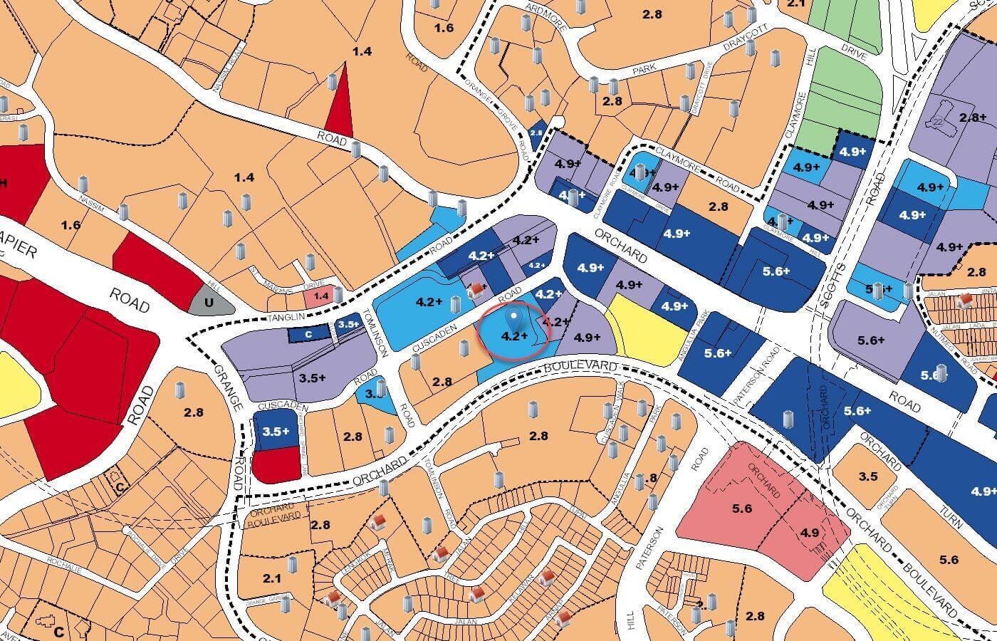 Boulevard 88 Condo URA Master Plan Map