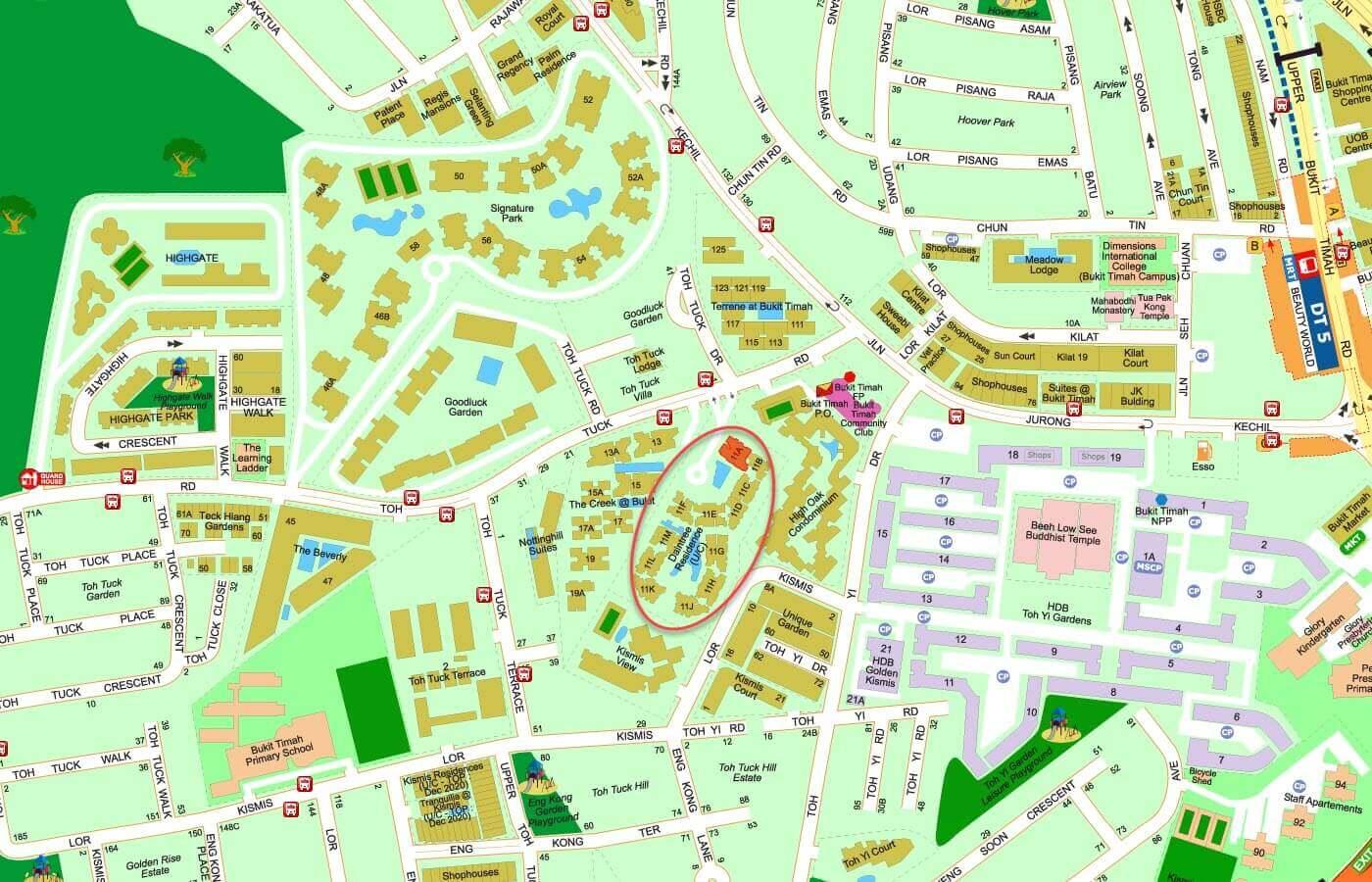 Daintree Residence Condo Street Directory Map