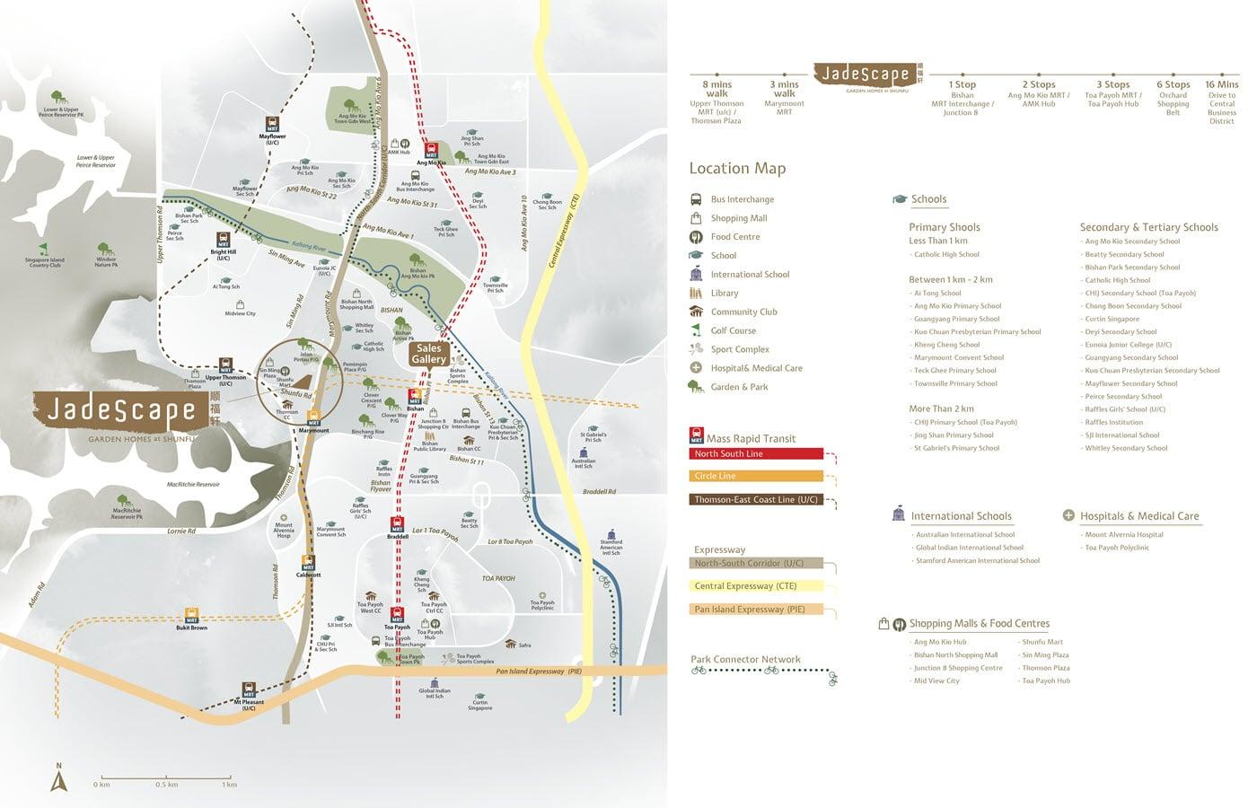 Jadescape Condo Location Map