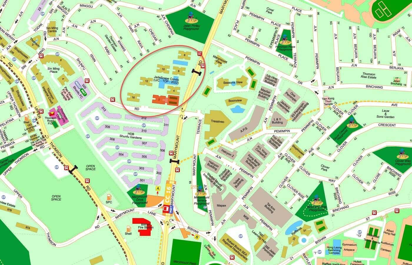 Jadescape Condo Street Directory Map