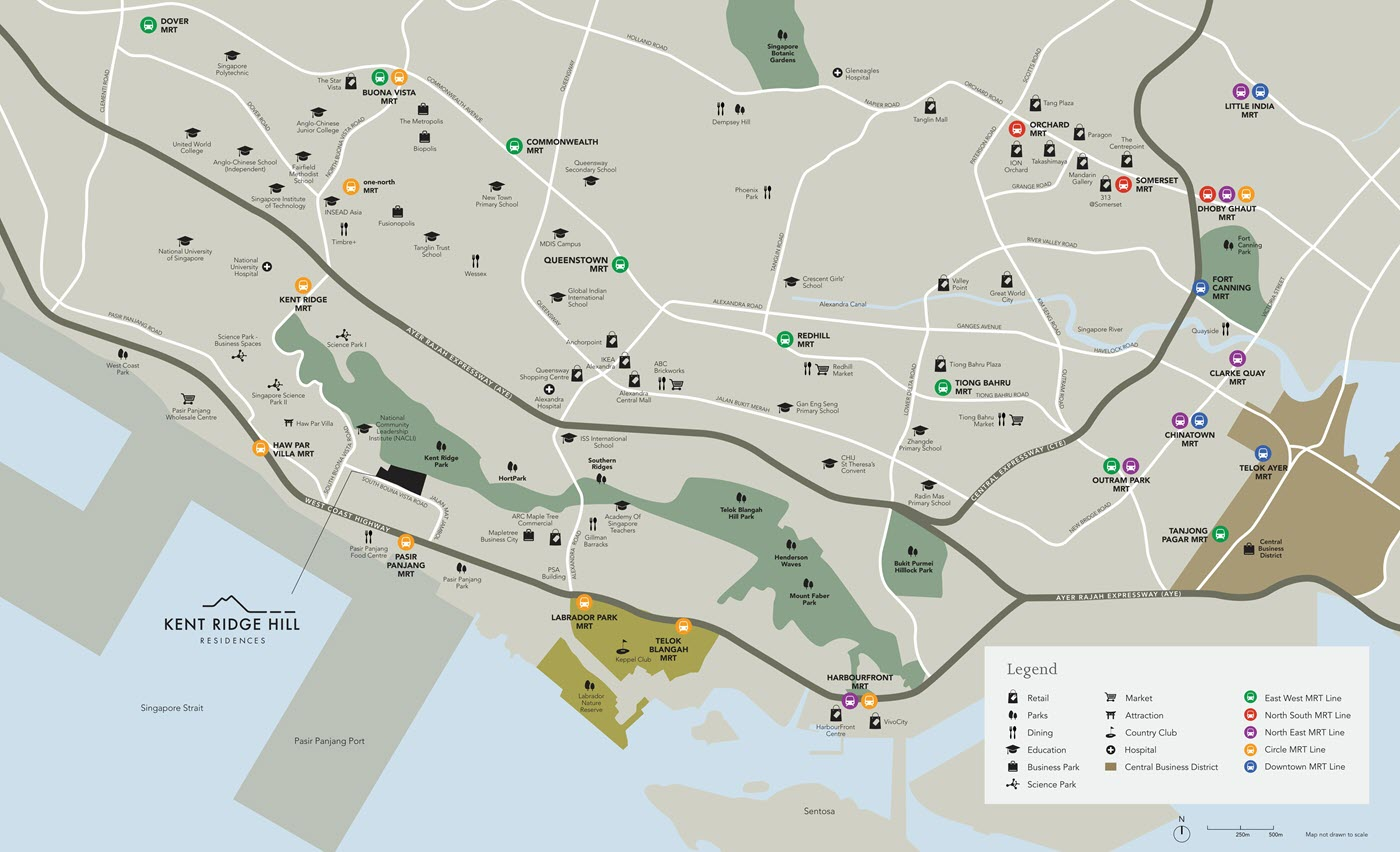 Kent Ridge Hill Residences Condo Location Map