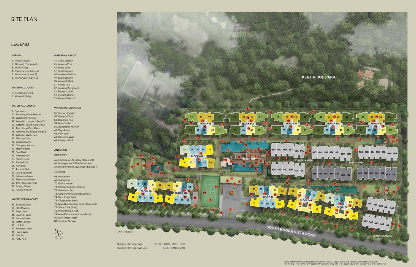 Kent Ridge Hill Residences Condo Site Plan