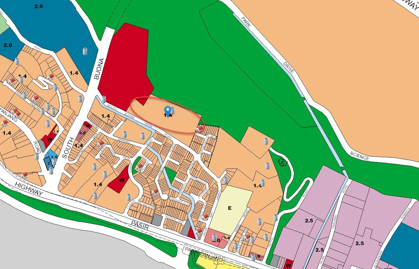 Kent Ridge Hill Residences Condo URA Master Plan Map