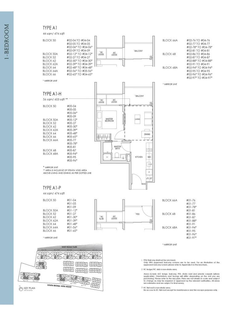 Kent Ridge Hill Residences Floor Plan A1