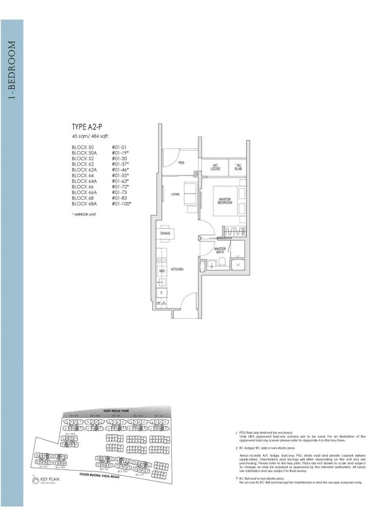 Kent Ridge Hill Residences Floor Plan A2