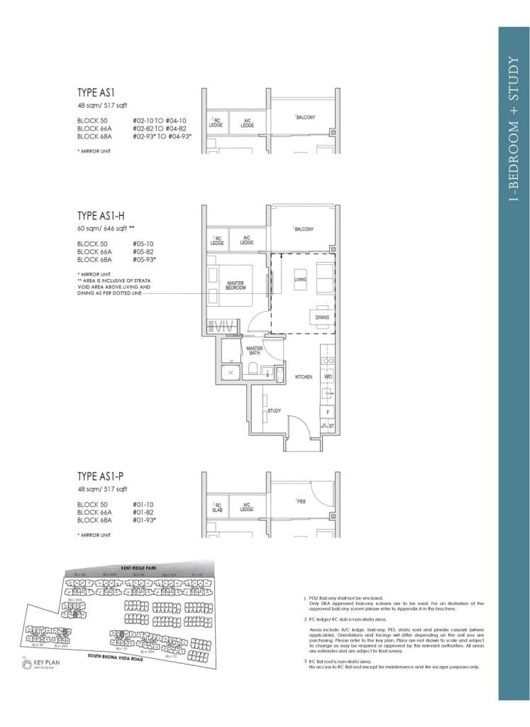 Kent Ridge Hill Residences Floor Plan AS1