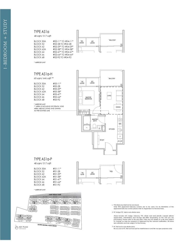 Kent Ridge Hill Residences Floor Plan AS1a