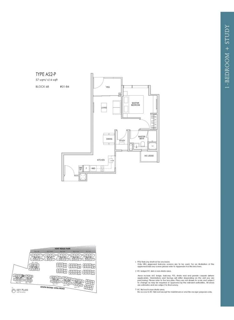 Kent Ridge Hill Residences Floor Plan AS2