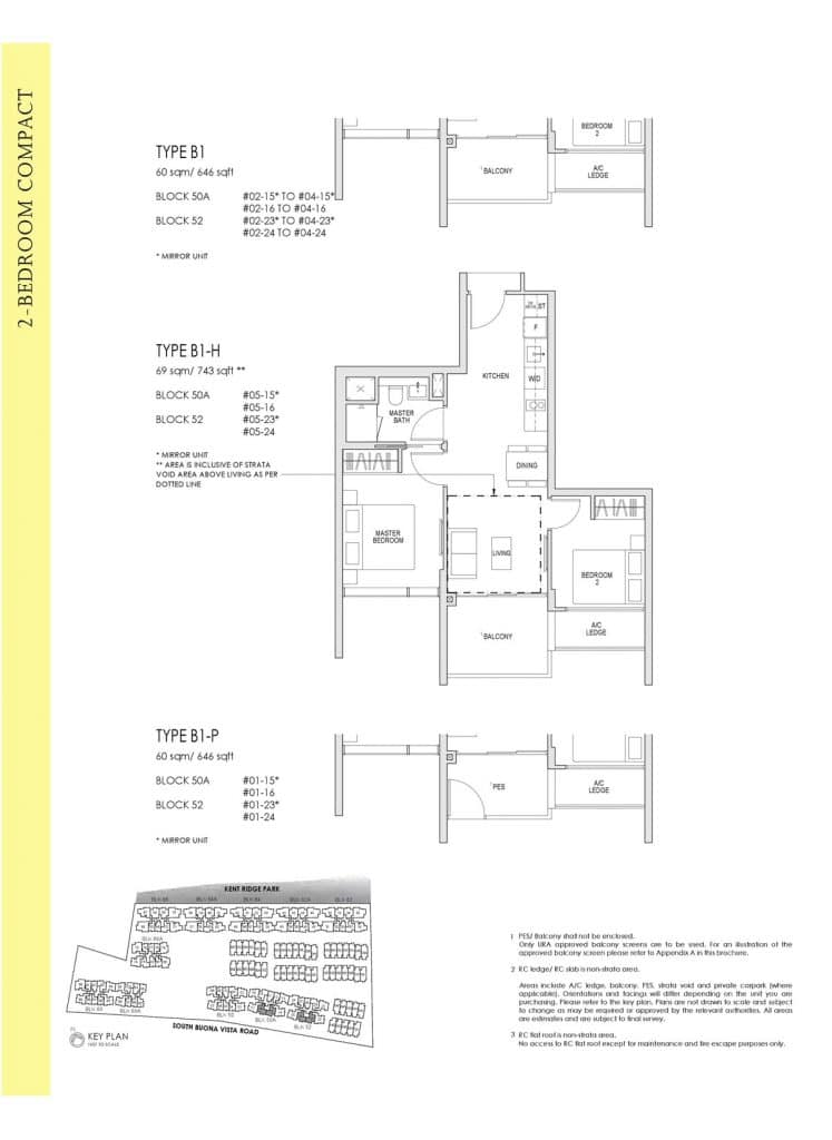 Kent Ridge Hill Residences Floor Plan B1