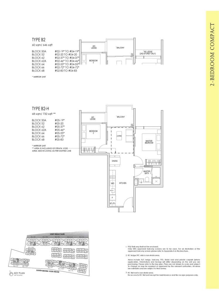 Kent Ridge Hill Residences Floor Plan B2