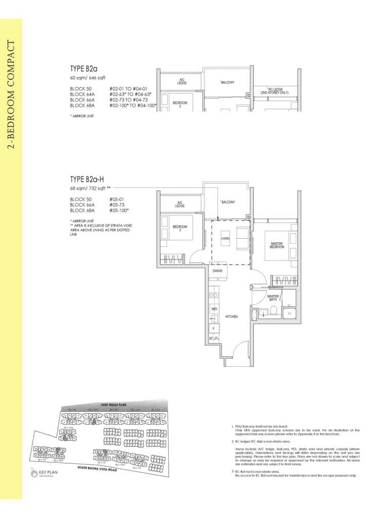Kent Ridge Hill Residences Floor Plan B2a
