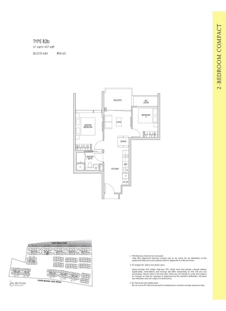Kent Ridge Hill Residences Floor Plan B2b