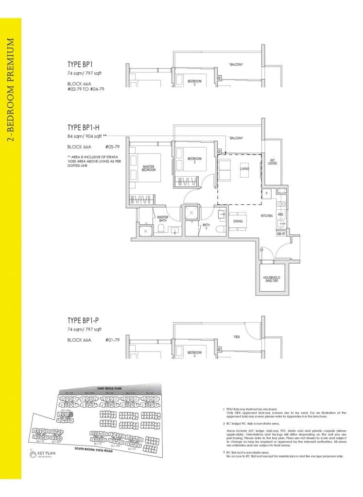 Kent Ridge Hill Residences Floor Plan BP1