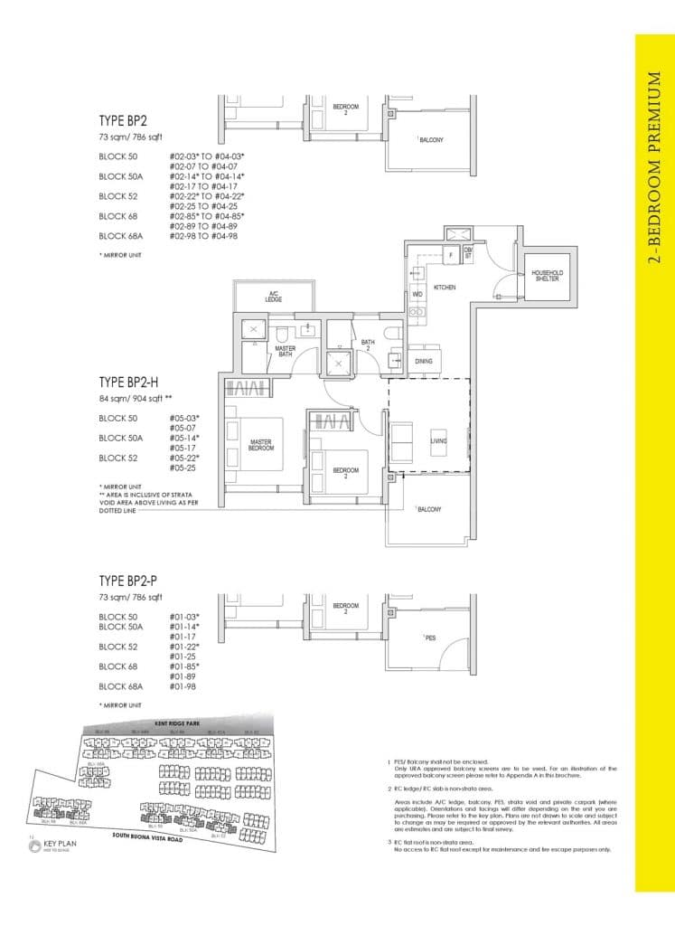 Kent Ridge Hill Residences Floor Plan BP2
