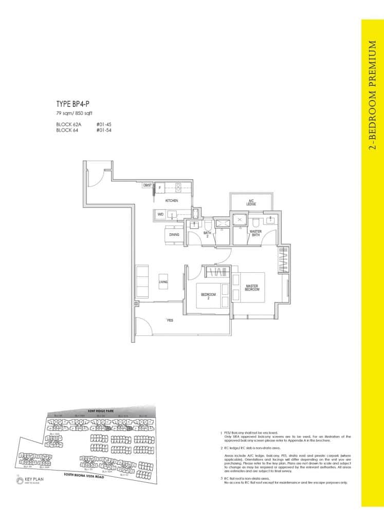 Kent Ridge Hill Residences Floor Plan BP4