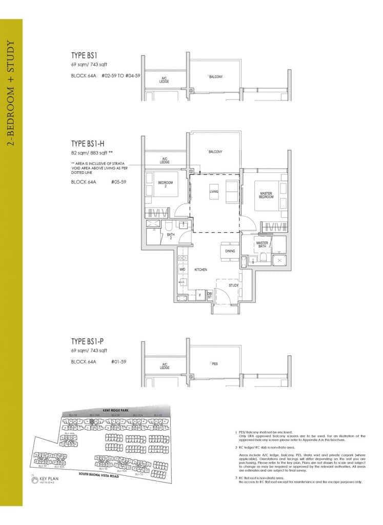 Kent Ridge Hill Residences Floor Plan BS1