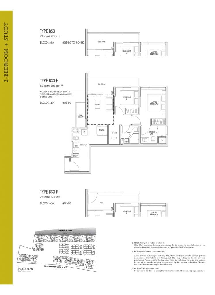 Kent Ridge Hill Residences Floor Plan BS3