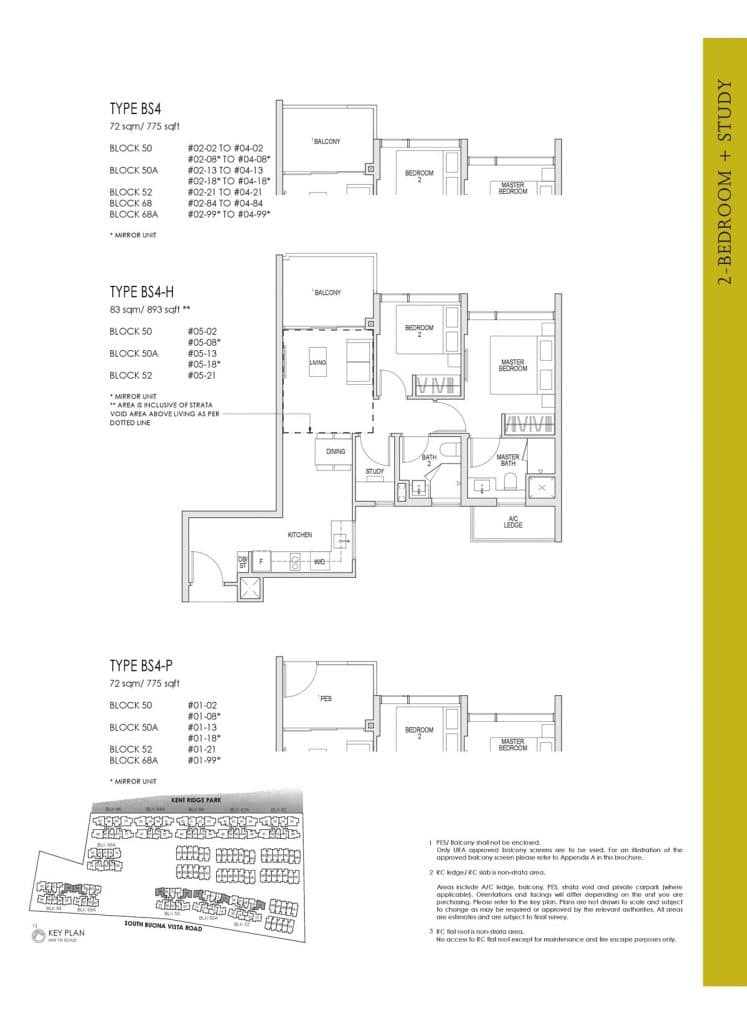 Kent Ridge Hill Residences Floor Plan BS4