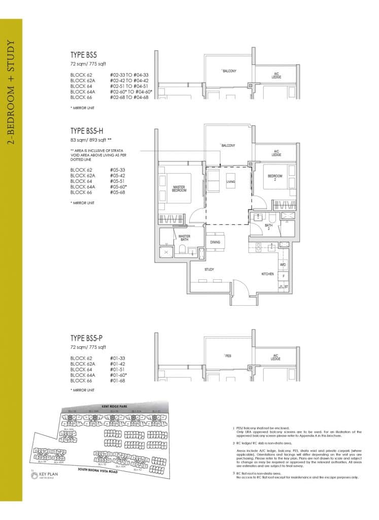 Kent Ridge Hill Residences Floor Plan BS5