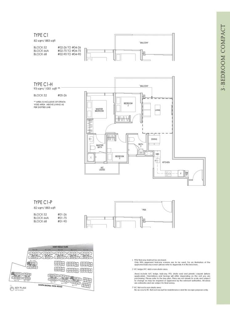 Kent Ridge Hill Residences Floor Plan C1