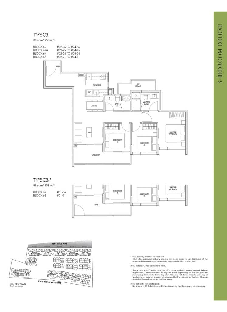 Kent Ridge Hill Residences Floor Plan C3