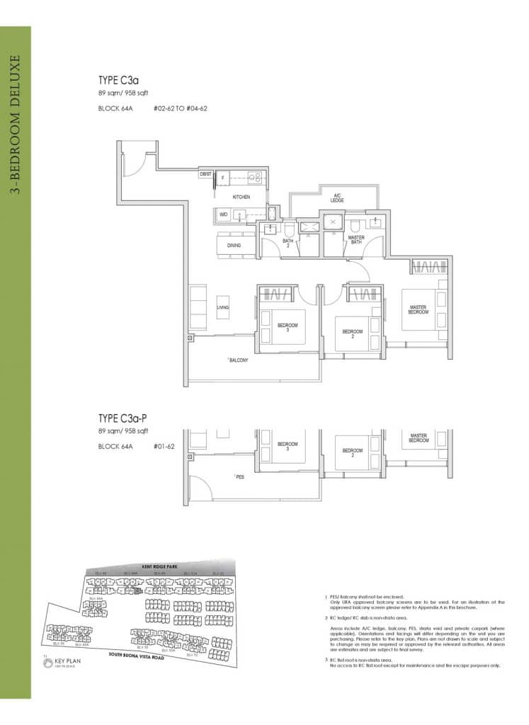 Kent Ridge Hill Residences Floor Plan C3a