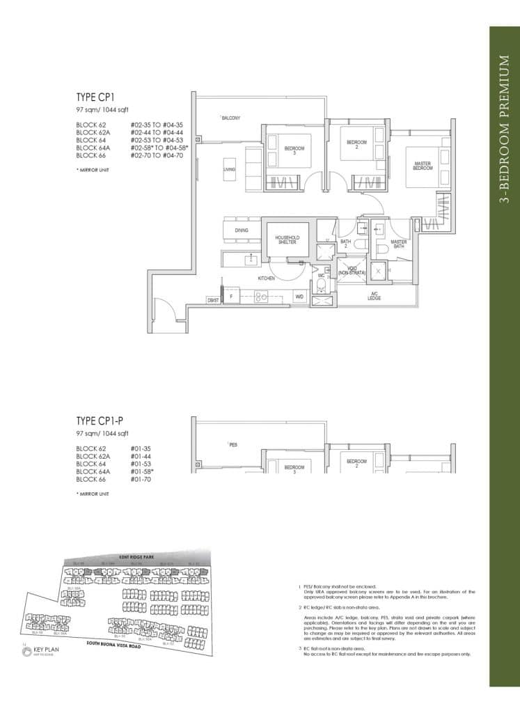 Kent Ridge Hill Residences Floor Plan CP1