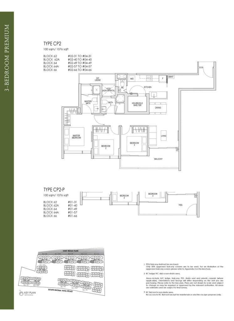 Kent Ridge Hill Residences Floor Plan CP2