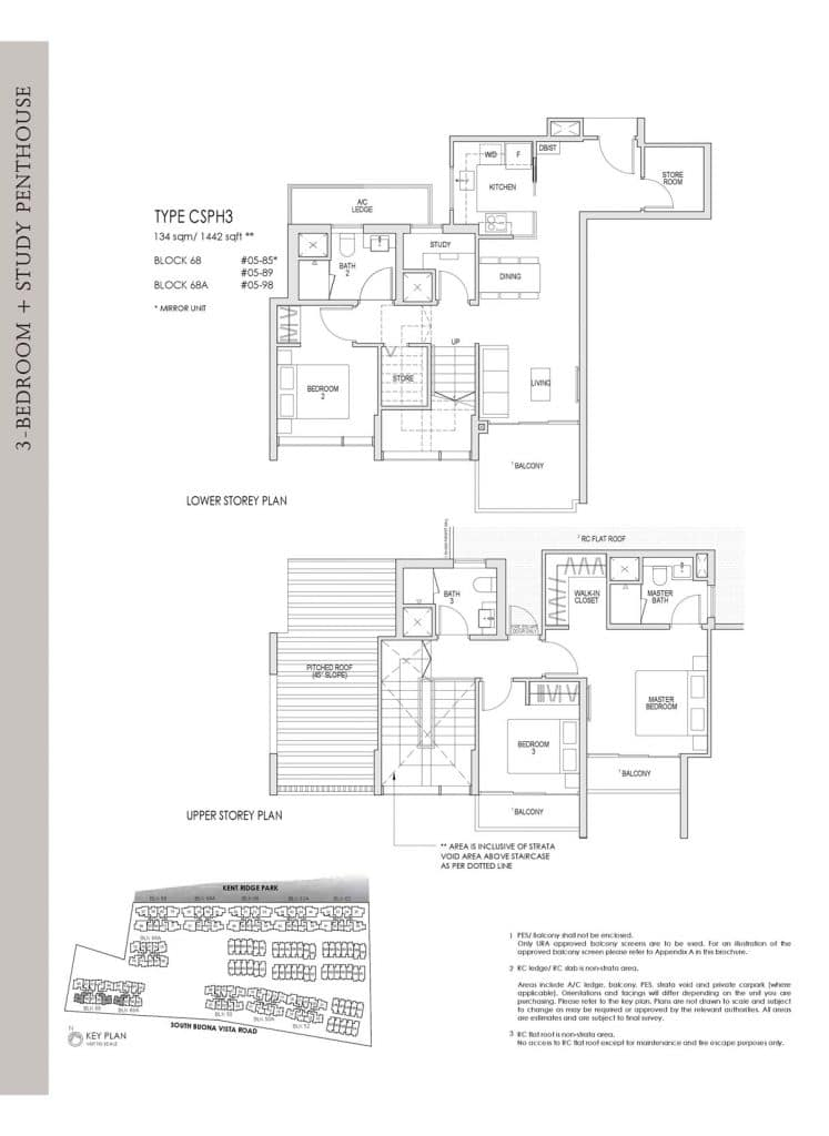 Kent Ridge Hill Residences Floor Plan CSPH3