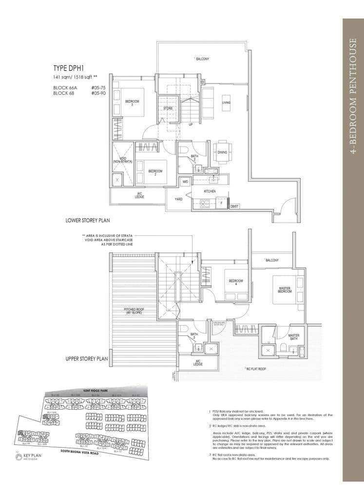 Kent Ridge Hill Residences Floor Plan DPH1