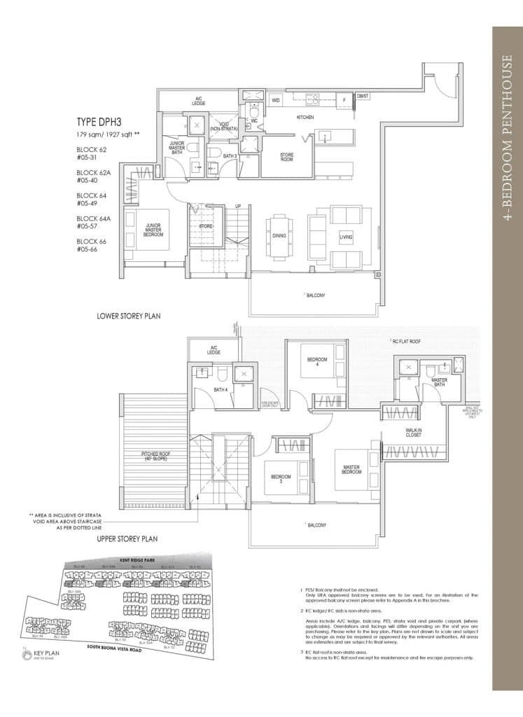 Kent Ridge Hill Residences Floor Plan DPH3