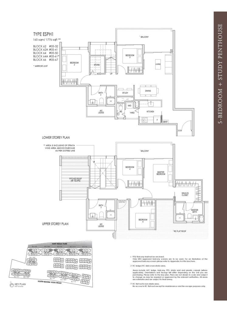 Kent Ridge Hill Residences Floor Plan ESPH1