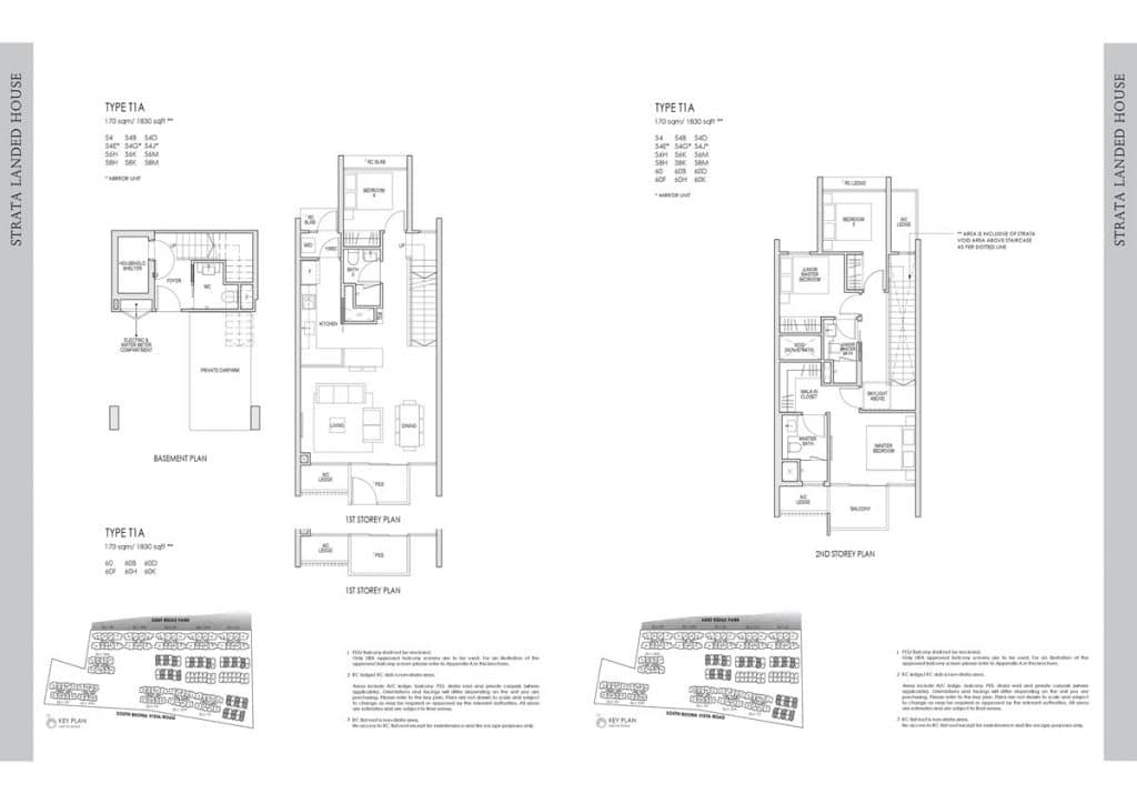 Kent Ridge Hill Residences Floor Plan T1A