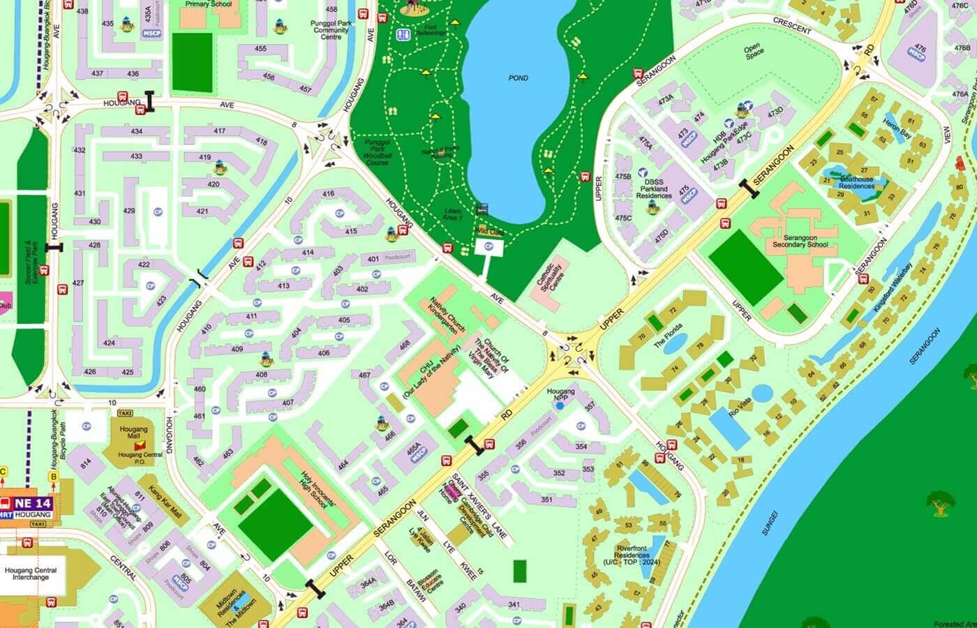 Kingsford Waterbay Condo Street Directory Map