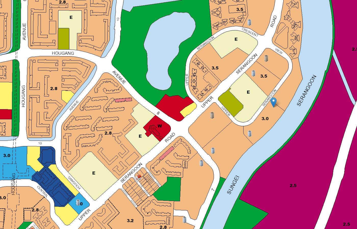 Kingsford Waterbay Condo URA Master Plan Map