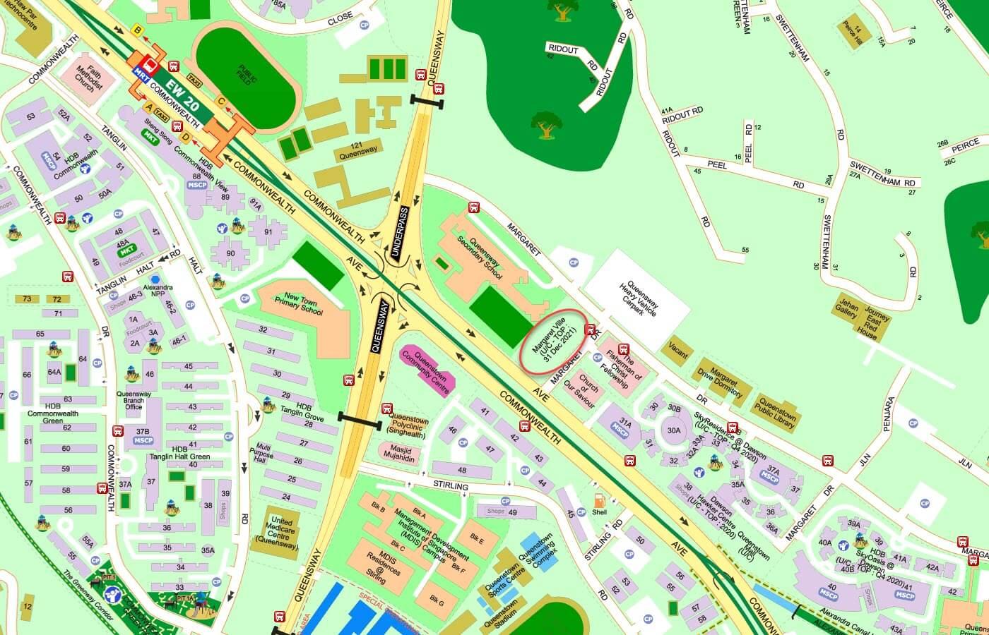 Margaret Ville Condo Street Directory Map