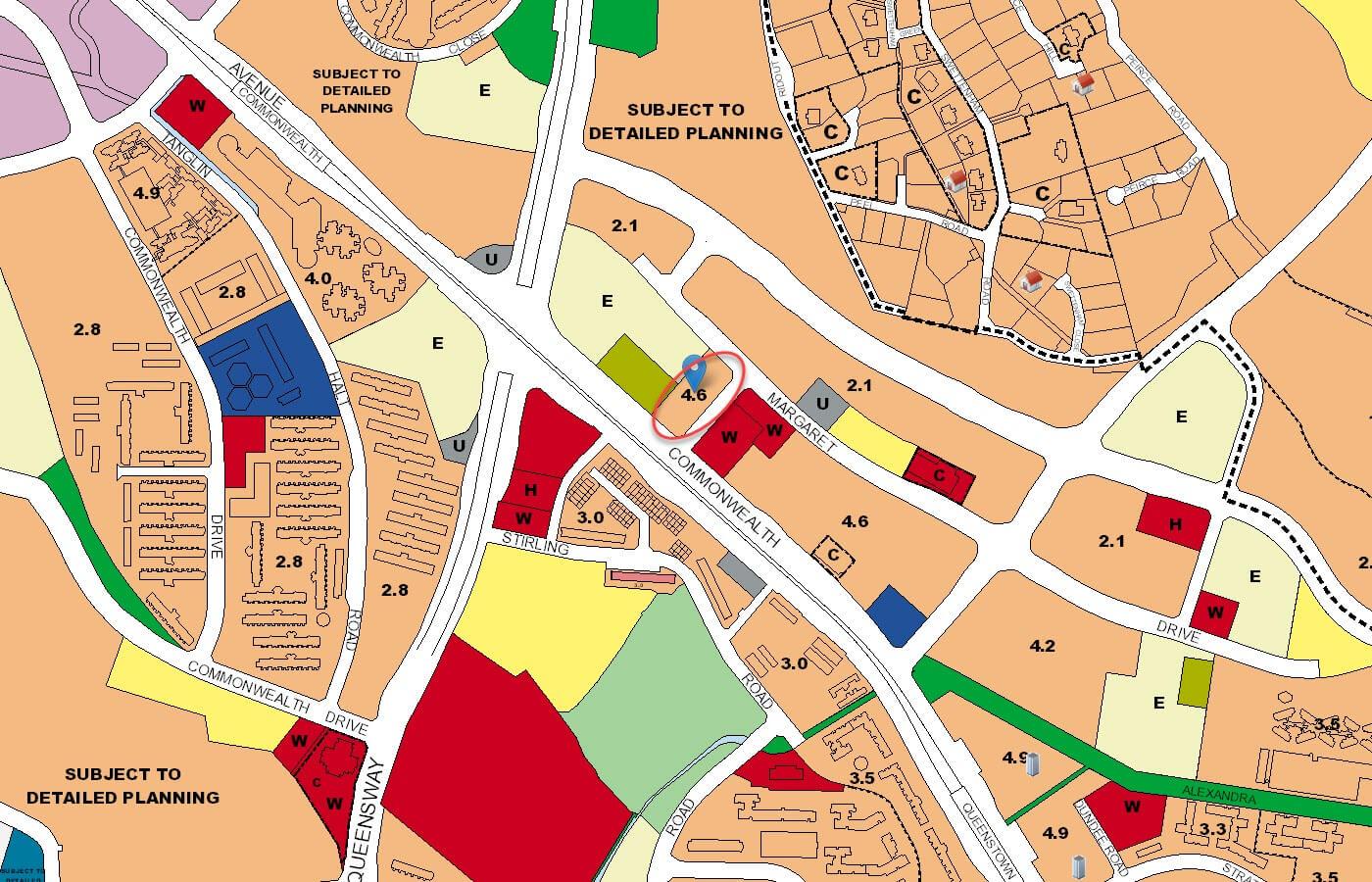 Margaret Ville Condo URA Master Plan Map