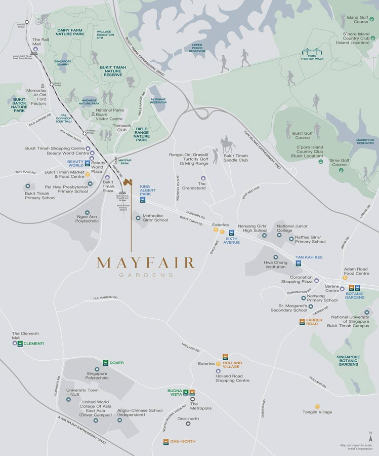 Mayfair Gardens Condo Location Map 1