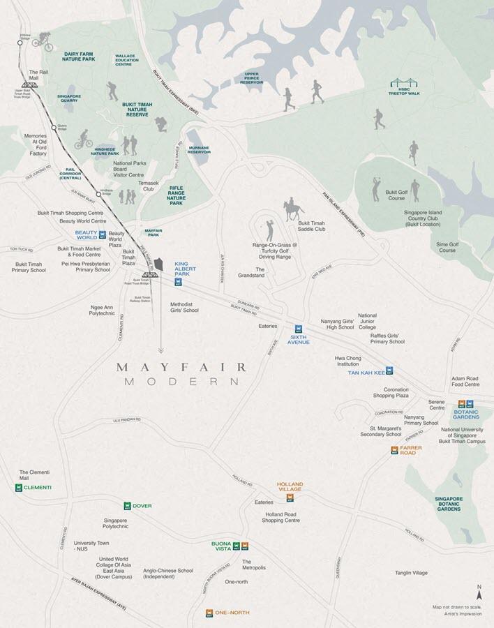 Mayfair Modern Condo Location Map