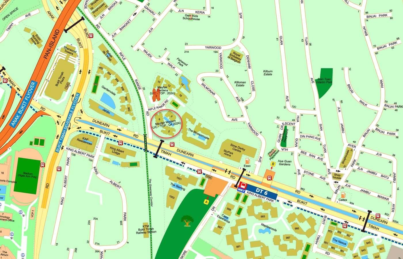 Mayfair Modern Condo Street Directory Map