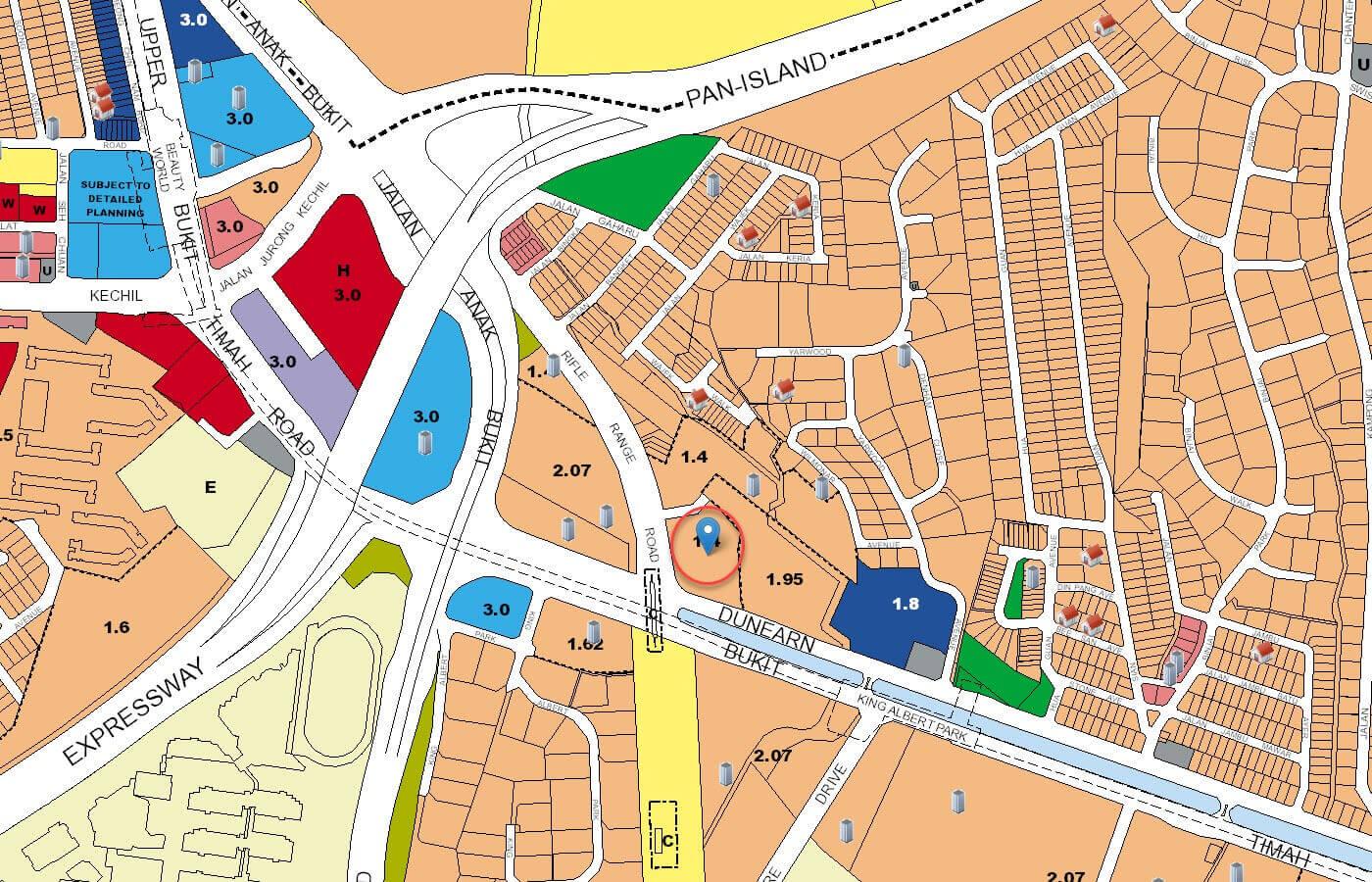 Mayfair Modern Condo URA Master Plan Map